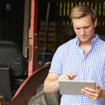 Farmer Using Tablet